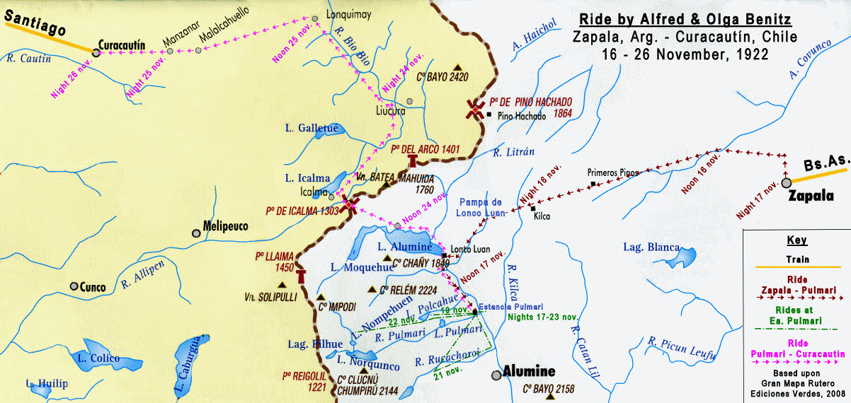 Alfred Bz Diary Trip To Pulmari - Zapala argentina map